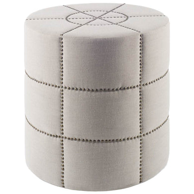 Cream ottoman with metallic accents, (black or cream) - Annelisse's