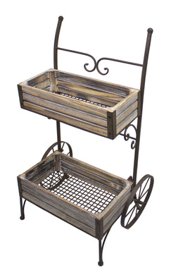 Metal garden flower cart - Annelisse's
