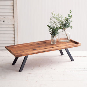 Industrial Raised Wood Tray, available 2/17/21--preorder - Annelisse's