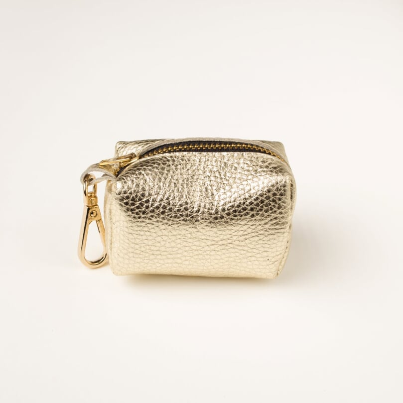Willow Walks leather poo bag in gold
