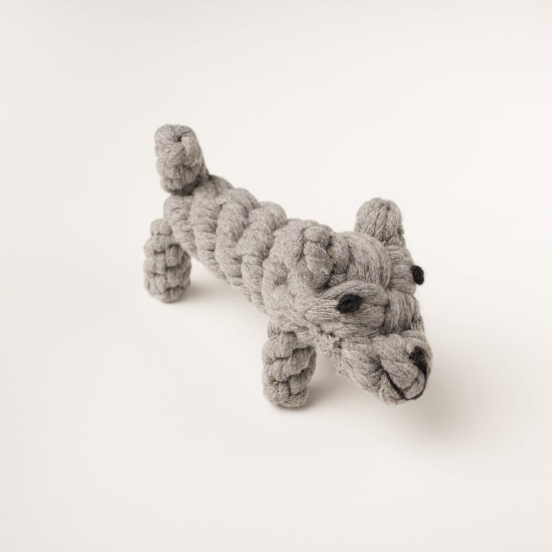 Willow Walks dog rope toy in grey