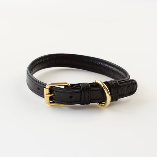 Black leather collar Willow Walks