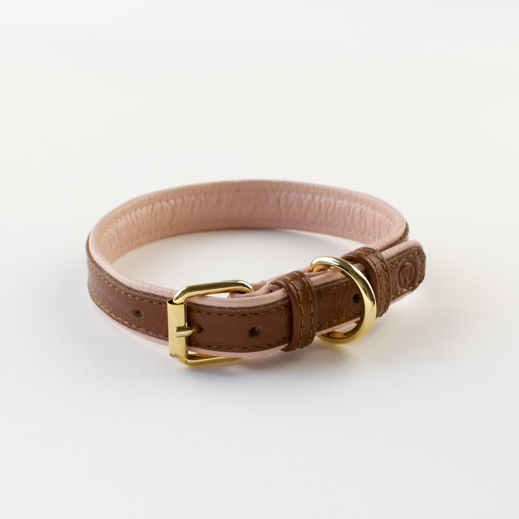 Double-sided leather collar Willow Walks