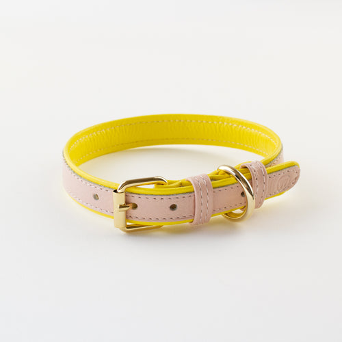 Pink leather collar Willow Walks