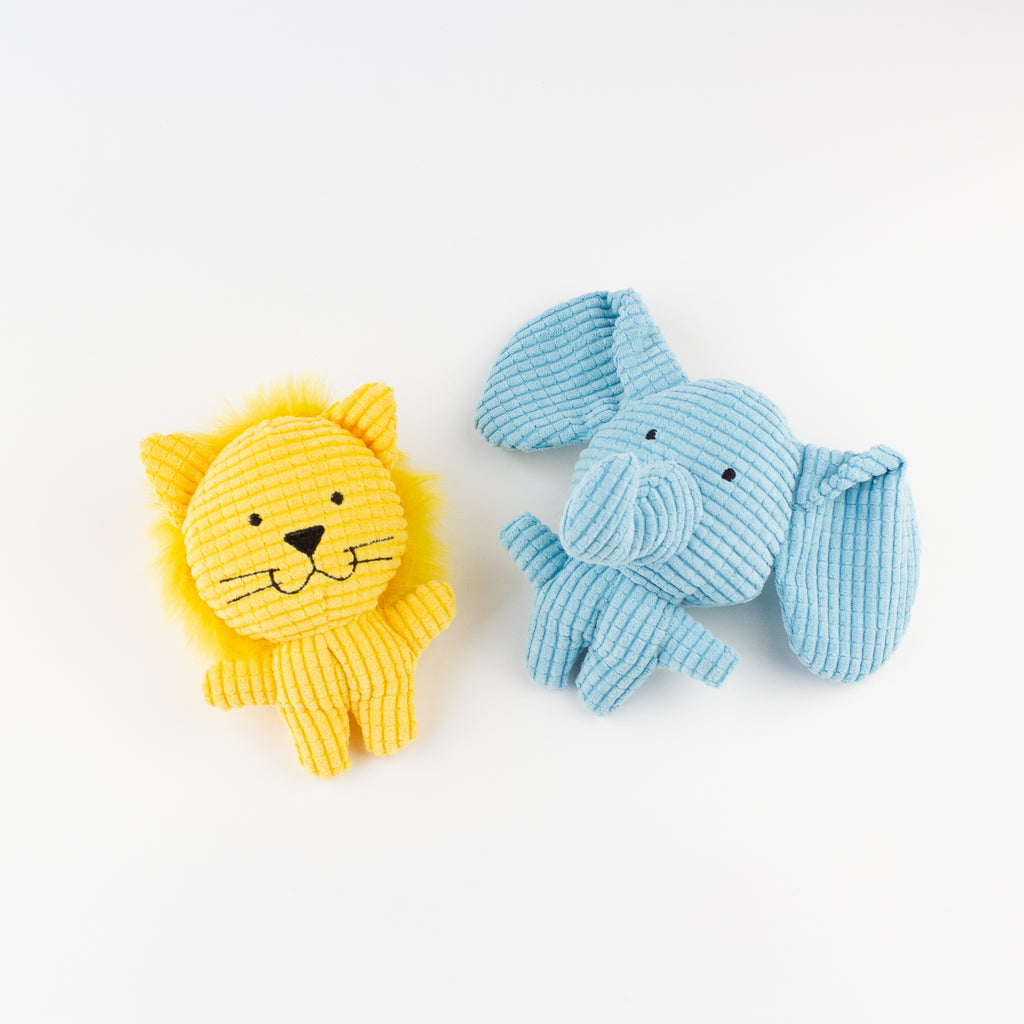Dog toy lion and elephant Willow Walks