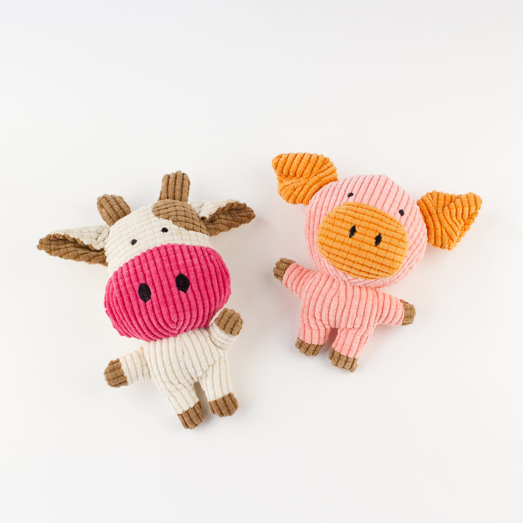 Dog toy pig and cow Willow Walks