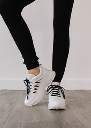 BELLA-21 BLACK - WHITE - FYShoes