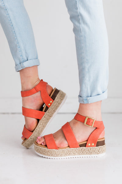 BRYCE CORAL ORANGE - FYShoes
