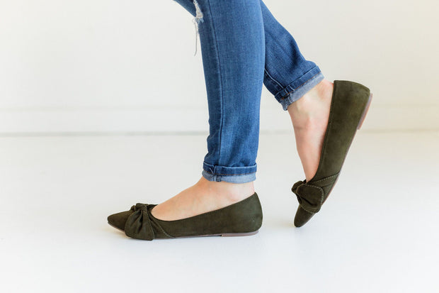DALENA-1 OLIVE GREEN - FYShoes