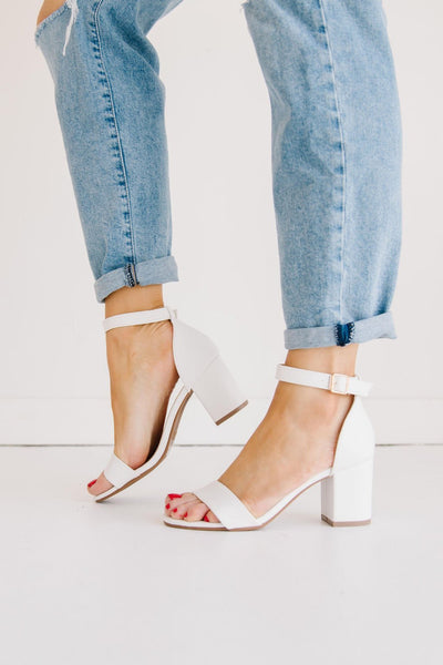 DELIA-1 WHITE - FYShoes