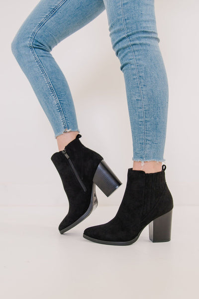 JADE-3 BLACK SUEDE - FYShoes