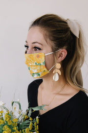 MASK - YELLOW FLOWERS - FYShoes
