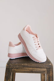 OSHEA-01 BLUSH PINK WHITE - FYShoes