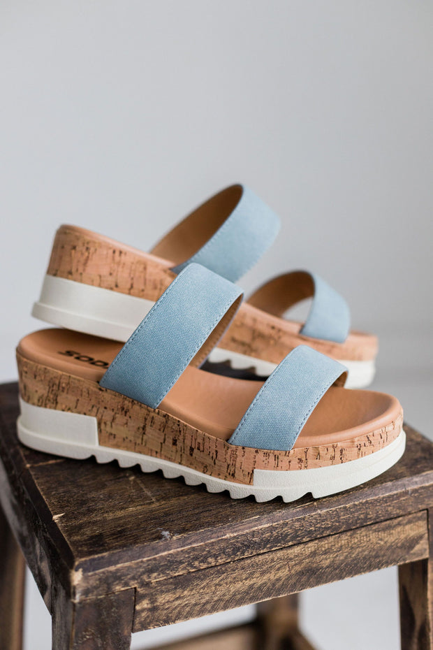 POPPIN BLUE DENIM - FYShoes