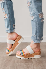 POPPIN RAINBOW WHITE - FYShoes