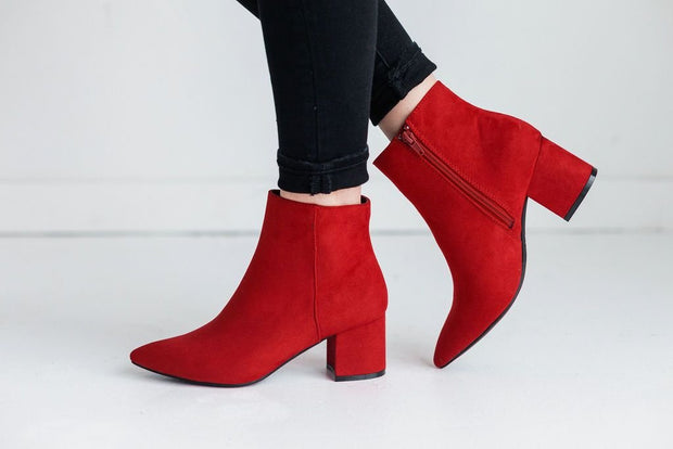 RAPID-01 RED SUEDE - FYShoes