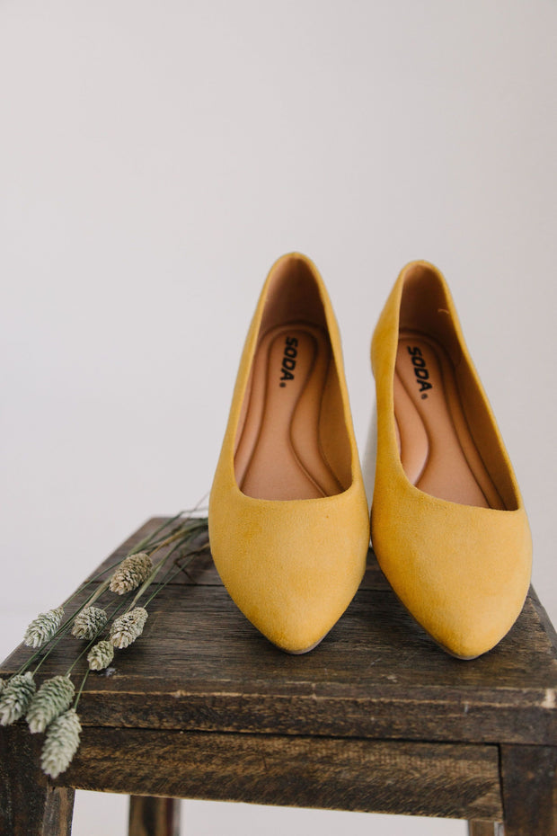 REDBUD MUSTARD YELLOW - FYShoes