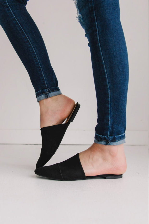 SWIRL-210 BLACK SUEDE - FYShoes