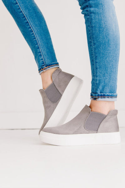 WOODS GREY SUEDE - FYShoes