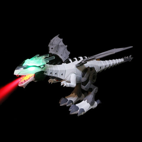 Shocking Electric Spray Dinosaur Toy with fire breath