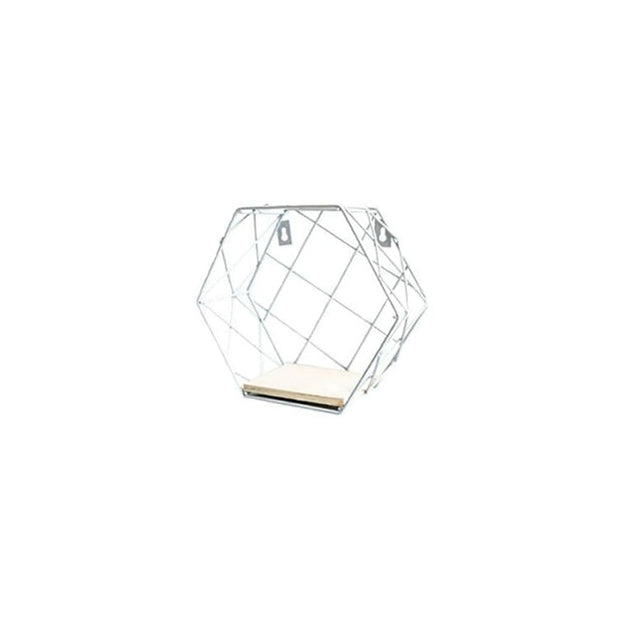 Nordic Wrought Iron Hexagon Shelf