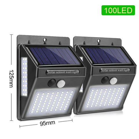 100 LED Solar PIR Security Light