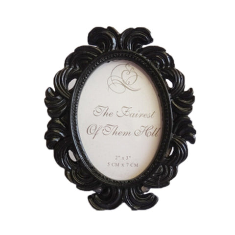 Floral Round Photo Frame