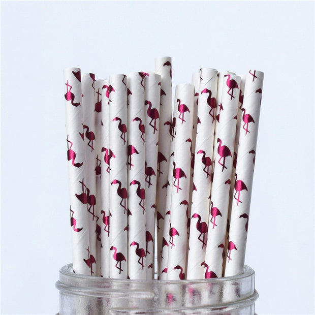 25pcs  Metallic Foil Straws