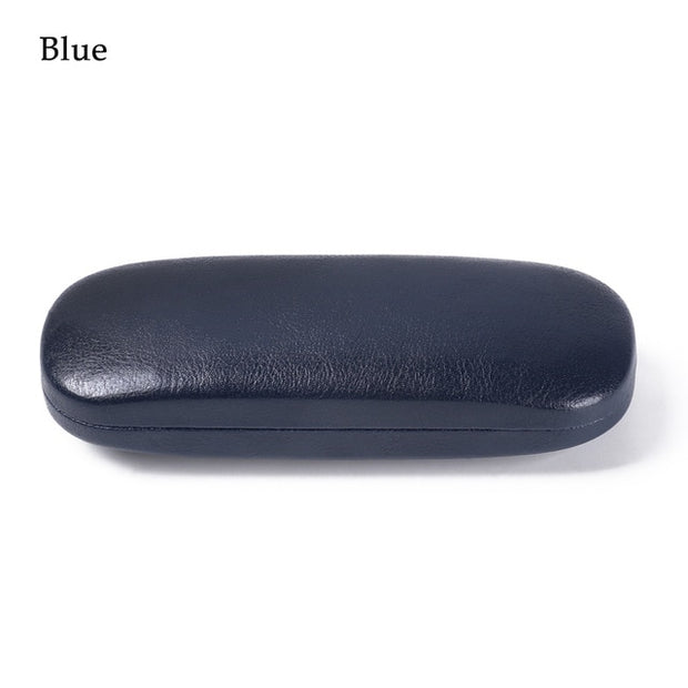 1Pcs  Leather Glasses Hard Shell Case