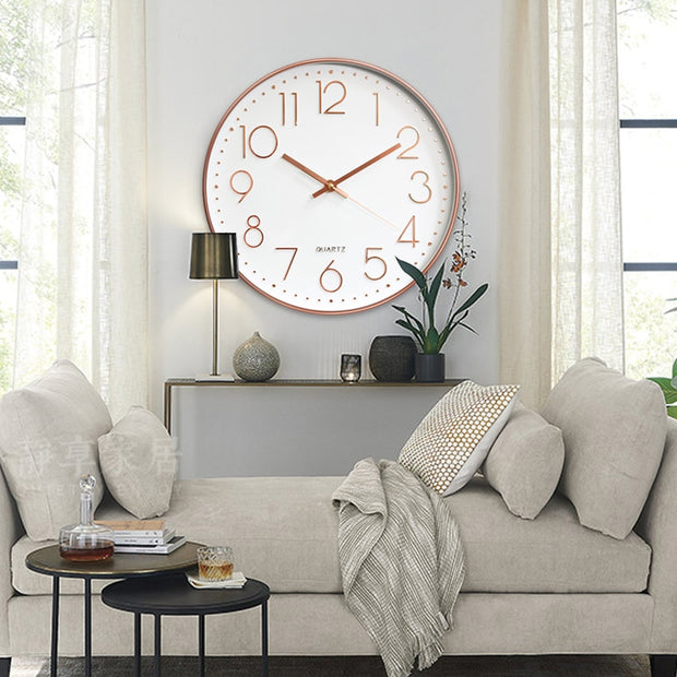Rose Gold 12inch Digital Clock