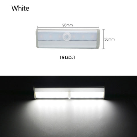 PIR Motion Sensor LED Under Cabinet Night Light  6/10 LEDs