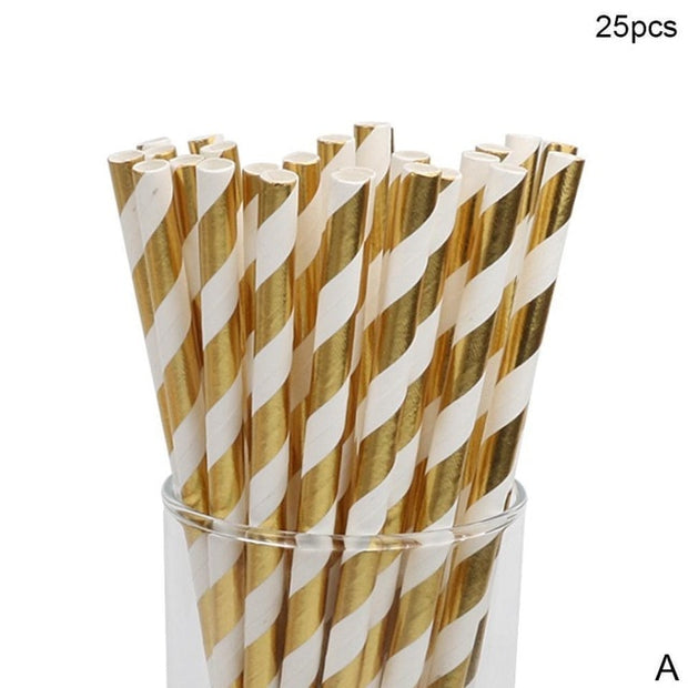 25pcs Drinking Card Straws