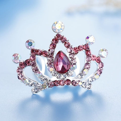 Girls Crystal Rhinestone Princess Crown