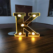 Gold LED Letter Lights