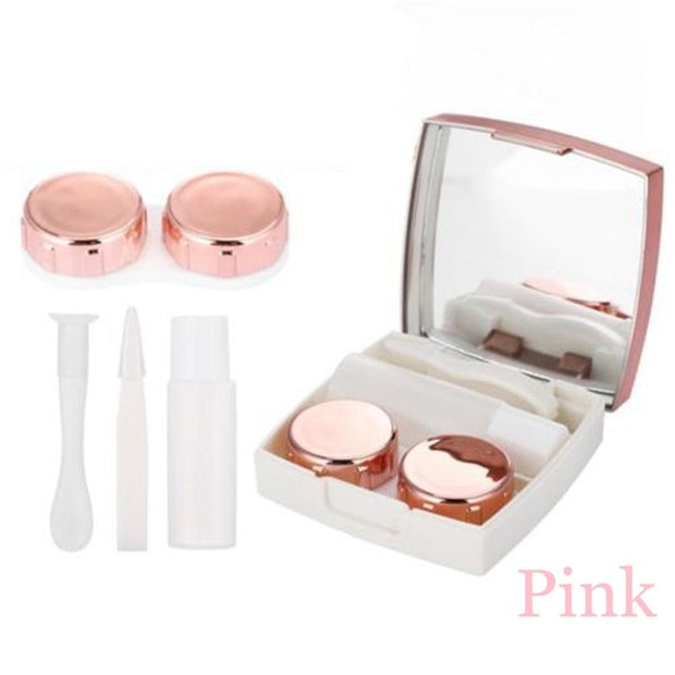 1Pcs Contact Lens Case With Mirror
