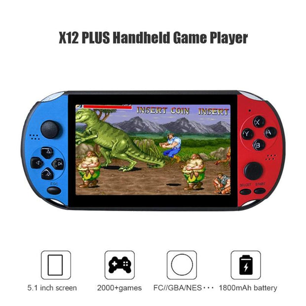 X12PLUS 5.1inch 8GB Handheld Games Console with Built-in 2000 Games