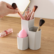 3 Lattices Cosmetic Make-up Brush Storage Box