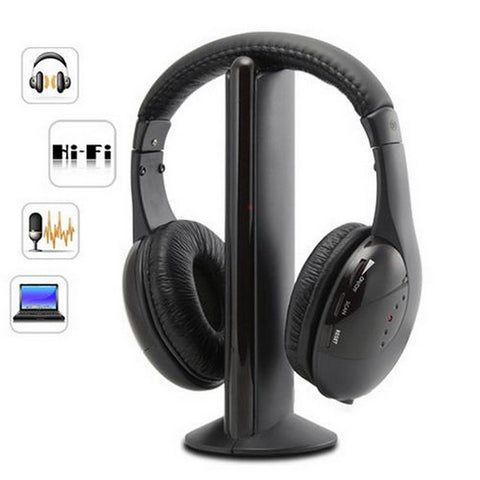 5 In 1 Wireless Headphones Cordless