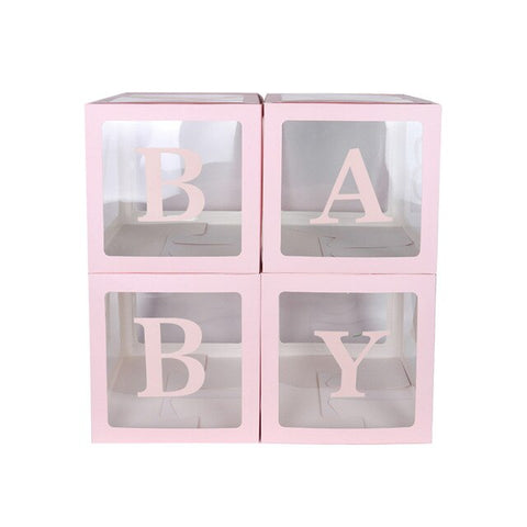 4Pcs Baby Love Transparent Box