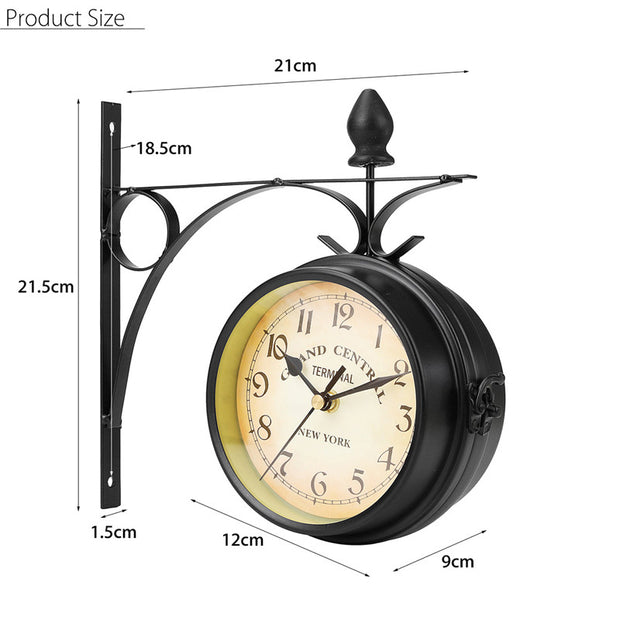 Double Sided Garden Clock Mount