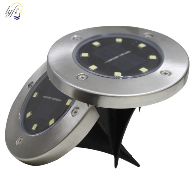 4pcs Solar Powered Ground Light