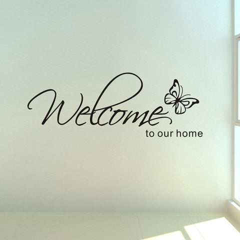 'Welcome To Our Home' Wall Stickers