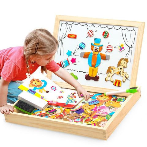 100PC Wooden Magnetic Puzzle Box
