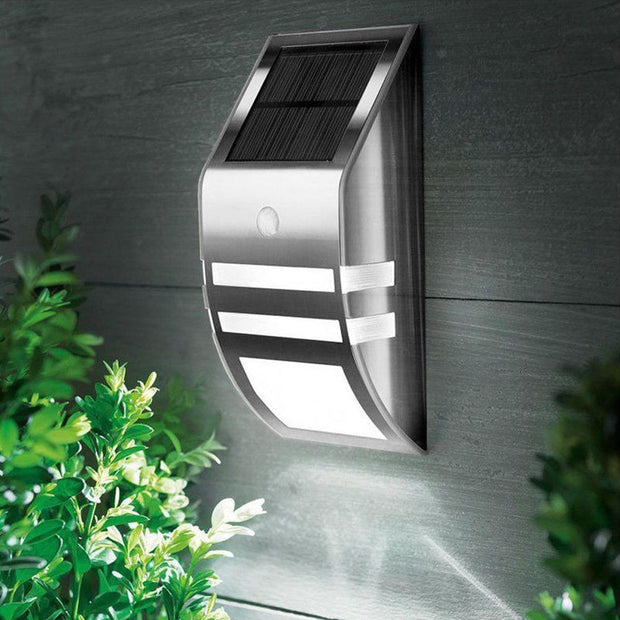Waterproof IP65 LED Solar Garden Panel Lamp with PIR Motion Sensor