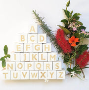 Single Nordic Style Wooden Alphabet Letter