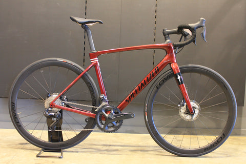 Top Brand Cycles l 2020 Roubaix Expert Gloss Crimson - Cast Berry Edge