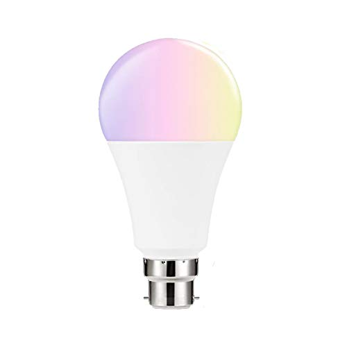 Smart WiFi Light Blub B22 RGBCW 7W Energy Saving Dimming Multicolor Timing A60 Led Bulbs Work with Alexa 1st,2nd,3rd Gen Google Home,No Hub Required