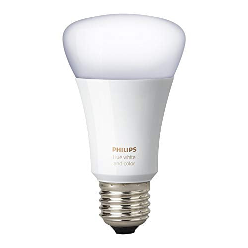 Philips Hue White and Color Ambiance 3rd Generation A19 10W Equivalent Dimmable LED Smart Bulb Renewed
