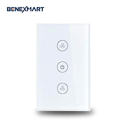 Benexmart Smart WiFi Ceiling Fan Switch Compatible with Alexa Google Home Smart Life App Control Fan Switch