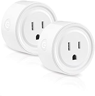 Wifi Smart Plug works with Alexa, Mini Smart Outlet Echo & Echo Plug, Google Home, Smart Home Devices, No Hub Required Wifi Mini Socket, Wifi Remote Socket Control Your Devices from Anywhere (2 Pack)